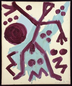 A.R.PENCK : JÖRG IMMENDORFF, 1982, oil on canvas, 60 x 50 cm
