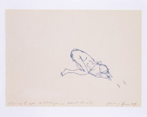 "TRACEY EMIN ""CURLED UP ASLEEP - CAN'T THINK"" 2007"