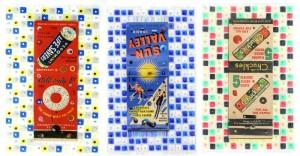 ELLEN FRANCES TUCHMAN《LUCKY STRIKE SERIES PEP-O-MINT / RED 2》《LUCKY STRIKE SERIES SUN VALLEY BLUE 2》《LUCKY STRIKE SERIES CHUCKLES BIG5》