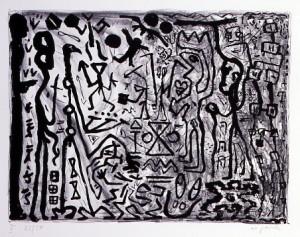 A.R.PENCK《ERSTE KONZENTRARION, MAPPE II, MUNICH, MAXIMILIAN VERLAG, 1982》1982, ED 22/50, 59.3 x 79.5 cm, 23 3/8 x 31 1/4 in.. lithograph