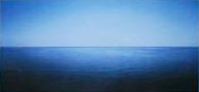 "BERNHARD QUADE ""SICILY LICATA SEA 08-08 01-05,8-2008"" 2008, ED 1/5, 90.5 x 140 cm, 35 5/8 x 55 1/8 in., lambda C-print"