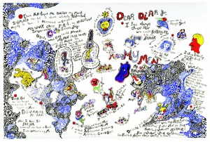 NIKI DE SAINT PHALLE《CALIFORNIA DIARY(MY MEN)》1991, AP VII/XXV, 80 x 120 cm, 31 1/2 x 47 1/5 in., serigraph, paint and pencil on paper